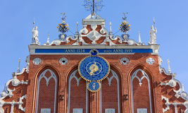 Facade of the House of the Blackheads in Riga Stock Photo