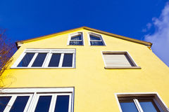 Facade of house with blue sky Royalty Free Stock Photo