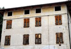 Facade of a house in Breganze in the province of Vicenza in the Veneto (Italy) Stock Photography