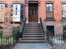 Facade of the house in Brooklyn Royalty Free Stock Photos