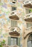 The facade of the house Casa Batllo Stock Photos