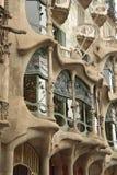 The facade of the house Casa Batllo Stock Photography