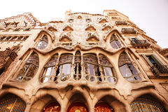 The facade of the house Casa Battlo Stock Photos