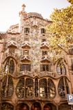 The facade of the house Casa Battlo Royalty Free Stock Photo