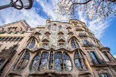 The facade of the house Casa Battlo in Barcelona Stock Photography