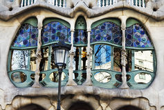 The facade of the house Casa Battlo Stock Photo