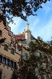The facade of the house Casa Battlo (Casa Batllo) Stock Image