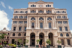 Facade of House of Commerce in San Francisco Square in Old Havana royalty free stock photo