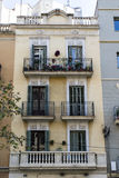 Facade of a house in the Eixample in Barcelona, Catalonia, Spain Royalty Free Stock Photo