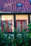 Facade of  house in Faaborg, Denmark Royalty Free Stock Photography