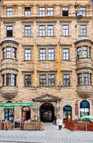 Facade of House of Lords of Lipa, Brno old town Stock Photography