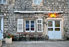 Facade of a house in Montenegro Stock Image