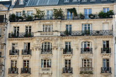 Facade of  house at the Pantheon Square in Paris Royalty Free Stock Photography