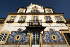 Facade of a house of the port wine maker in Azeitao - Portugal. Rich (with tiles) decorated facade of a house of the port wine maker in Azeitao - Portugal Stock Photos