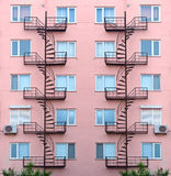 Facade of the house with stairs Royalty Free Stock Image