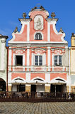Facade of the house in Telc  town Royalty Free Stock Photo