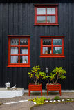 Facade of a house in Torshavn. Faroe Islands Royalty Free Stock Images