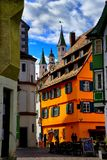 Cityscape of the town of Fussen Schwarzwald germany royalty free stock photos