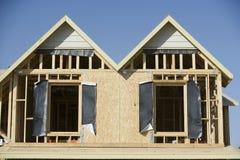Facade Of House Under Construction Stock Photos