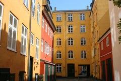 Facade of houses Stock Photos