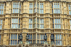 Facade of the Houses of Parliament Royalty Free Stock Photos