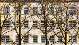 Facade of houses for subsidized Royalty Free Stock Photo