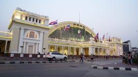 The railway station in Bangkok stock video