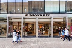 Facade of Hudson`s Bay royalty free stock photo