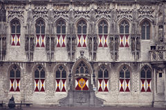 Facade of huge church in Gothic style in Middelburg, Zeeland, Netherlands Royalty Free Stock Photo