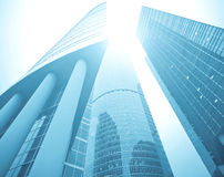 Facade of huge high-rise Stock Images