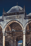 Facade of Huge Mosque gate Stock Images