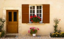 Facade i Sanktt Jean de Cole Frankrike Arkivfoto