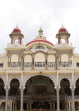 The facade if Mysore palace showing beautiful arch Stock Images
