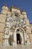 Facade of Igreja church in Coimbra Royalty Free Stock Images