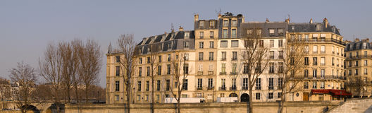 Facade of Ile Saint Louis in Paris Royalty Free Stock Image