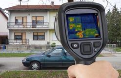 Facade Infrared Leak Stock Image