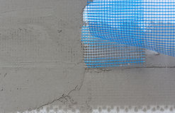 Facade insulation Layers Royalty Free Stock Images