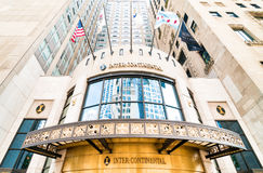 Facade of InterContinental Chicago Magnificent Mile Stock Photography