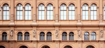 Facade of International art museum Bourse. Riga Royalty Free Stock Image