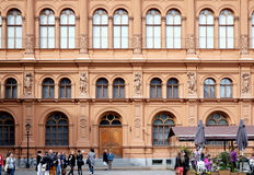 Facade of International art museum Bourse Stock Photography