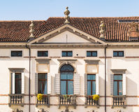Facade of an Italian Venetian villa. Royalty Free Stock Photo
