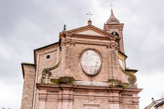Facade of Italian XVIII Century church. Facade of XVIII Century church, the Church of Pius Suffrage in Cotignola, Italy Stock Images