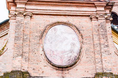 Facade of Italian XVIII Century church. Facade of XVIII Century church, the Church of Pius Suffrage in Cotignola, Italy Royalty Free Stock Photo