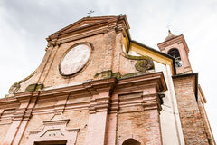 Facade of Italian XVIII Century church. Facade of XVIII Century church, the Church of Pius Suffrage in Cotignola, Italy Stock Photos