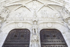 Facade of Jeronimos in Lisbon Royalty Free Stock Photography
