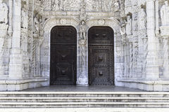 Facade of Jeronimos in Lisbon Stock Photo