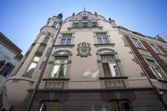 Facade of a Jugendstil building in Tallinn, Estonia, Baltic States Stock Images