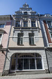 Facade of a Jugendstil building in Tallinn, Estonia, Baltic States Royalty Free Stock Photo