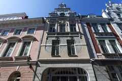 Facade of a Jugendstil building in Tallinn, Estonia, Baltic States Royalty Free Stock Image