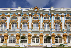 The facade of the Katherine's Palace in Tsarskoye Selo (Pushkin) Royalty Free Stock Image